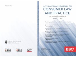 New article (paper) by our Founder published on the International Journal on Consumer Law and Practice